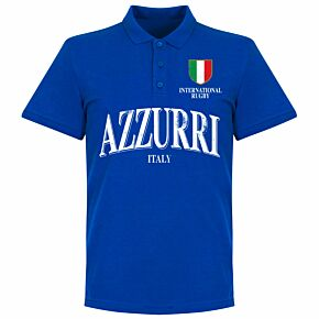 Italy Rugby Polo Shirt - Royal