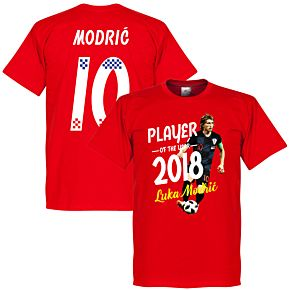 Modric 10 Player of the Year 2018 Tee - Red
