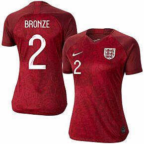 Nike England Womens Away Bronze 2 Jersey 2019-2020 (Fan Style Printing)