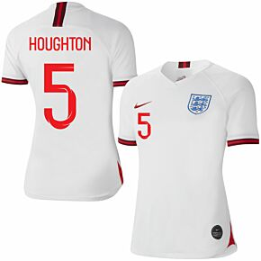 Nike England Womens Home Houghton 5 Jersey 2019-2020 (Fan Style Printing)