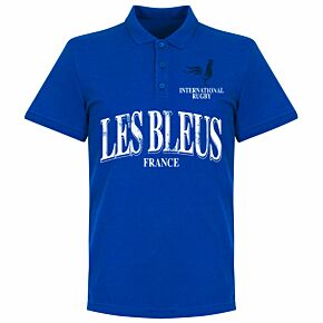 France Rugby Polo Shirt - Royal