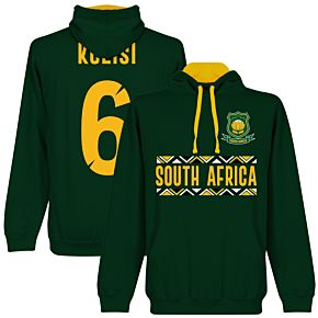 South Africa Rugby Team Kolisi 6 Hoodie - Forest/Gold