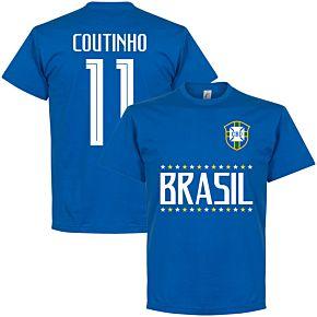 Brazil Coutinho 11 Team Tee - Royal