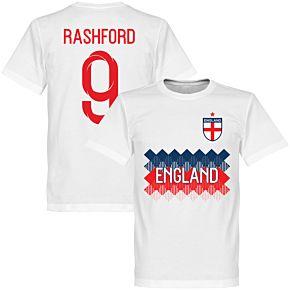 England Rashford 9 Team Tee - White