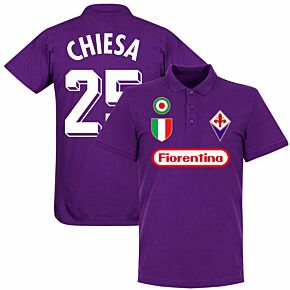 Fiorentina Chiesa 25 Team Polo Shirt - Purple