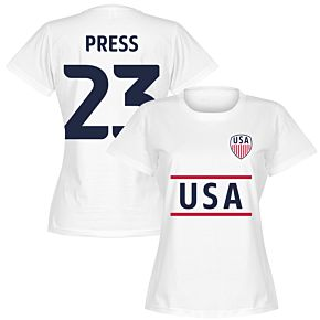 USA Press 23 Team Womens T-Shirt - White
