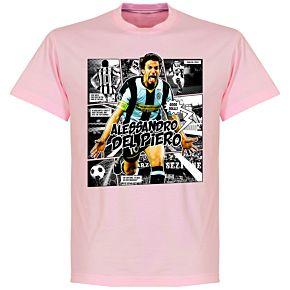 Del Piero Comic T-shirt -Pink
