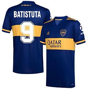 20-21 Boca Juniors Home Shirt+Batistuta 9 (Retro Fan Style)