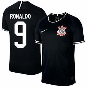 19-20 Corinthians Away Shirt + Ronaldo 9 (Fan Style)