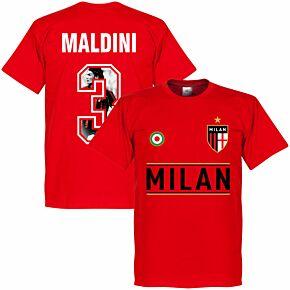 AC Milan Maldini 3 Gallery Team Tee - Red