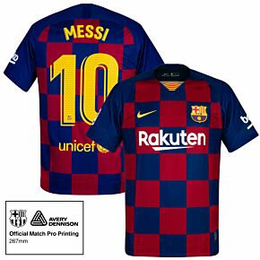 Nike Barcelona Home Stadium Messi 10 Jersey 2019-2020 (Match Pro Printing)