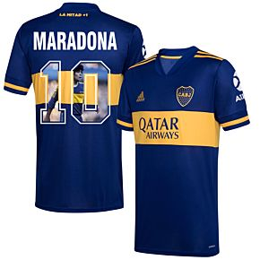 20-21 Boca Juniors Home Shirt+Maradona 10 (Gallery Style)