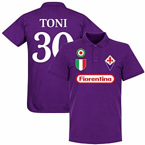 Fiorentina Toni 30 Team Polo Shirt - Purple