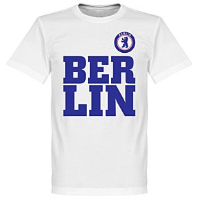 Berlin Text Tee - White