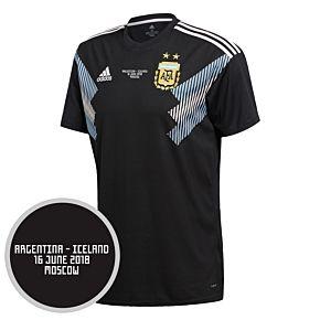 Argentina Away Jersey 2018 / 2019 + Argentina v Iceland Matchday Transfer