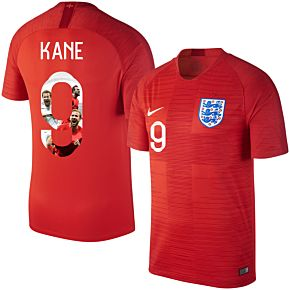 England Away Kane 9 Jersey 2018 / 2019 (Gallery Style Printing)