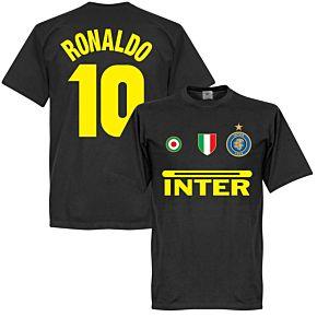 Inter Ronaldo 10 Team Tee - Black