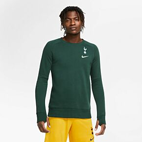 20-21 Tottenham Fleece Crew Sweatshirt - Green