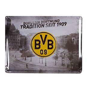 Borussia Dortmund Tradition Since 1909 Metal Sign (40 x 30cm Approx)