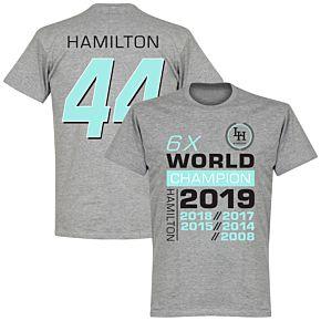 Hamilton 44 6x World Champion T-Shirt - Grey