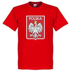 Poland Team Crest Tee - Red