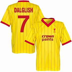 1982 Liverpool Away Retro Shirt + Dalglish 7