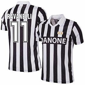 92-93 Juventus Home RetroShirt + Ravanelli 11