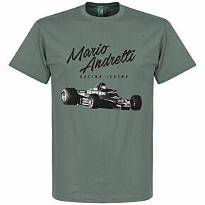 Mario Andretti Tee - Zinc