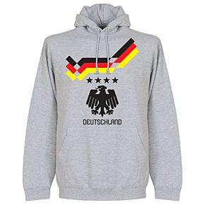 1990 Germany 4 Star Retro Hoodie - Grey