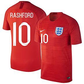 England Away Rashford 10 Jersey 2018 2019 (Fan Style Printing)