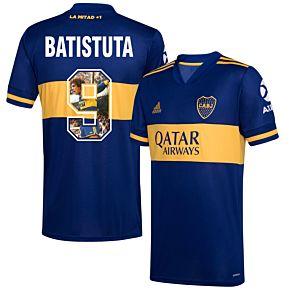 20-21 Boca Juniors Home Shirt+Batistuta 9 (Gallery Style)