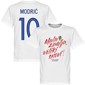 Croatia Mala zemlja, Veliki snovi Modric 10 Tee - White