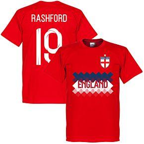 England Rashford 19 Team Tee - Red