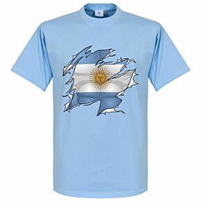 Argentina Ripped Flag KIDS Tee - Sky