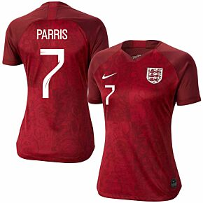 Nike England Womens Away Parris 7 Jersey 2019-2020 (Fan Style Printing)