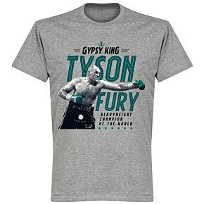 Tyson Fury Heavyweight Champion Picture T-Shirt - Grey