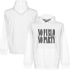 No Pirlo No Party Hoodie - White