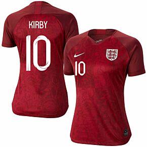 Nike England Womens Away Kirby 10 Jersey 2019-2020 (Fan Style Printing)