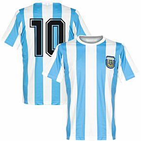 1986 Argentina Home Retro Shirt + No. 10