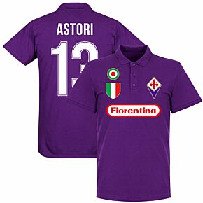 Fiorentina Astori 13 Team Polo Shirt - Purple