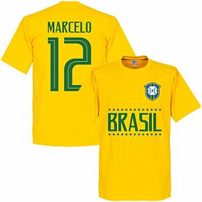 Brazil Marcelo 12 Team Tee - Yellow