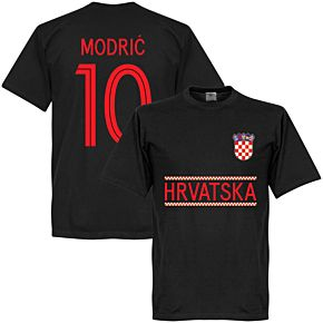 Croatia Modric 10 Team Tee - Black