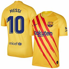 Nike Barcelona 4th Messi 10 Shirt 2019-2020 (Fan Style Printing)