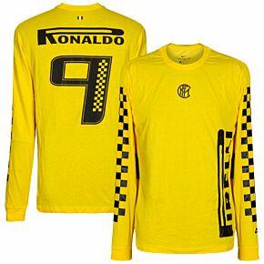 2019-20 Inter x Pirelli L/S Ronaldo 9 T-Shirt