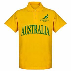 Australia Rugby Polo Shirt - Yellow