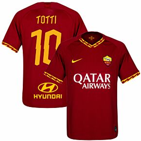 Nike AS Roma Home Totti 10 Jersey 2019-2020 (Fan Style Printing)