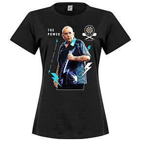 Phil The Power Taylor Womens Tee - Black