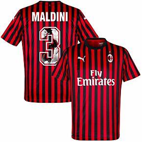 Puma AC Milan Home Maldini 3 Jersey 2019-2020 (Gallery Style Printing)