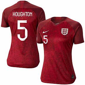 Nike England Womens Away Houghton 5 Jersey 2019-2020 (Fan Style Printing)