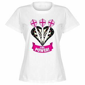 Darts Girl Power Womens T-Shir t - White